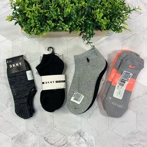 NWT BUNDLE POLO/Nike/DKNY Spirt Socks (12 pairs)